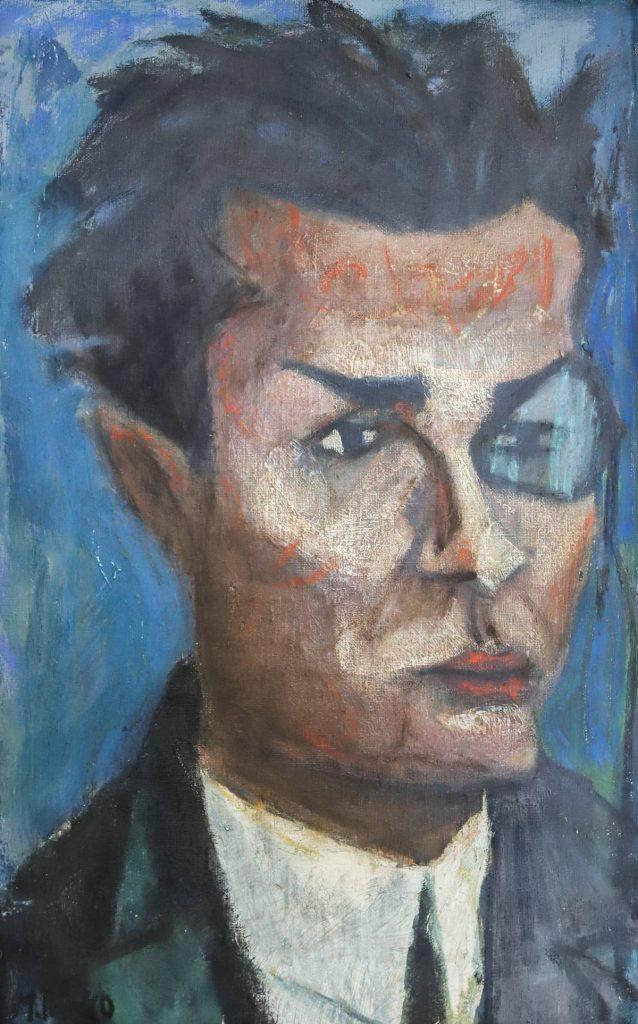 """Marcel Iancu, """"Portretul lui Tristan Tzara"""" (1915)"""