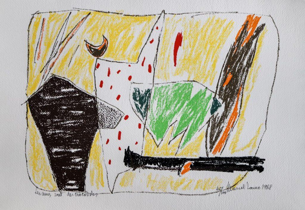 Marcel Iancu - Ten Original Serigraphs - Les Amis Sont Des Crocodiles
