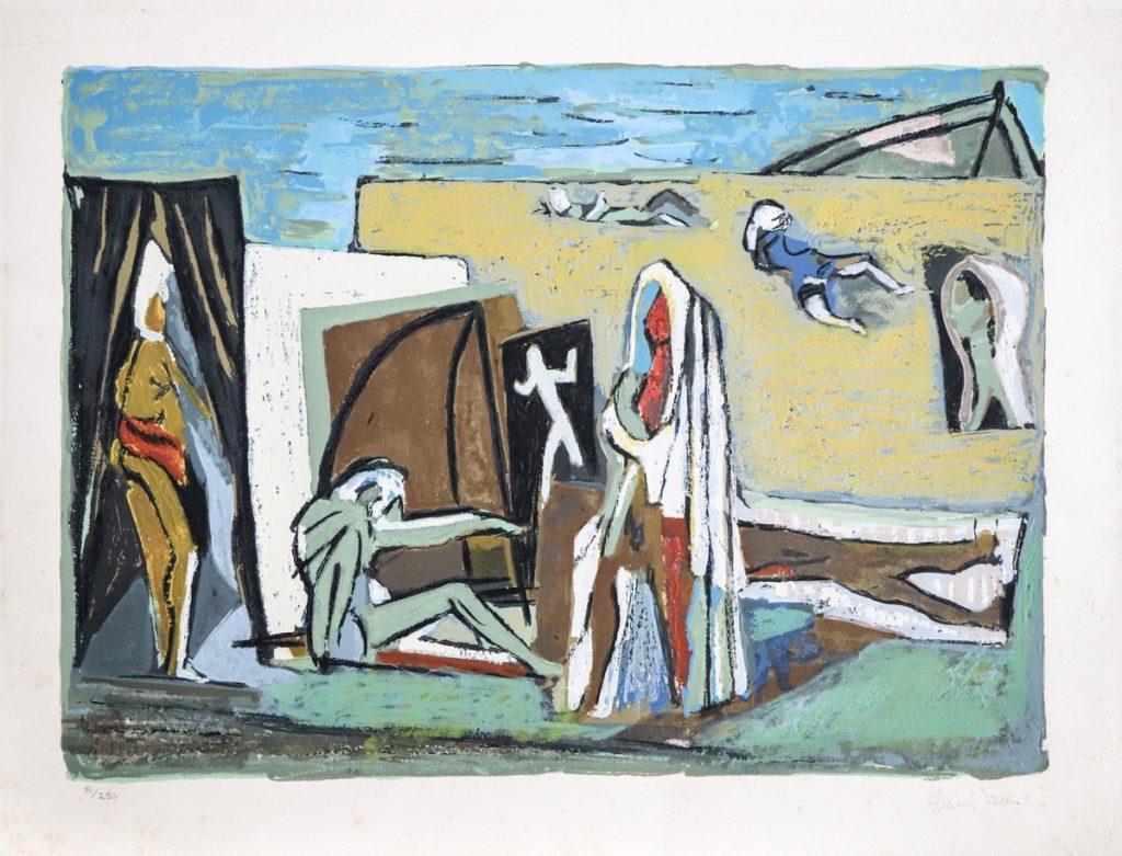"""Marcel Iancu, """"BEACH"""" (serigrafie)"""